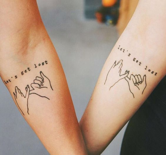 arm matching tattoo