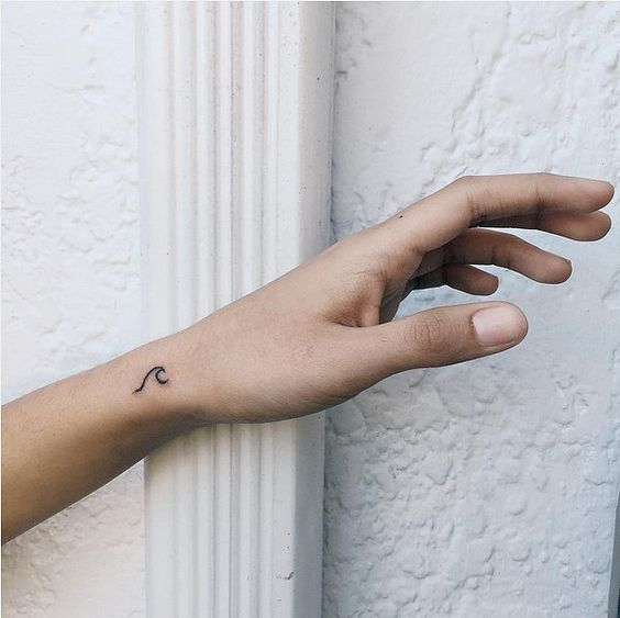 wrist wave tattoo