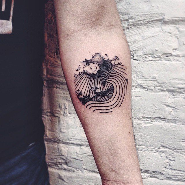 wave tattoo 2
