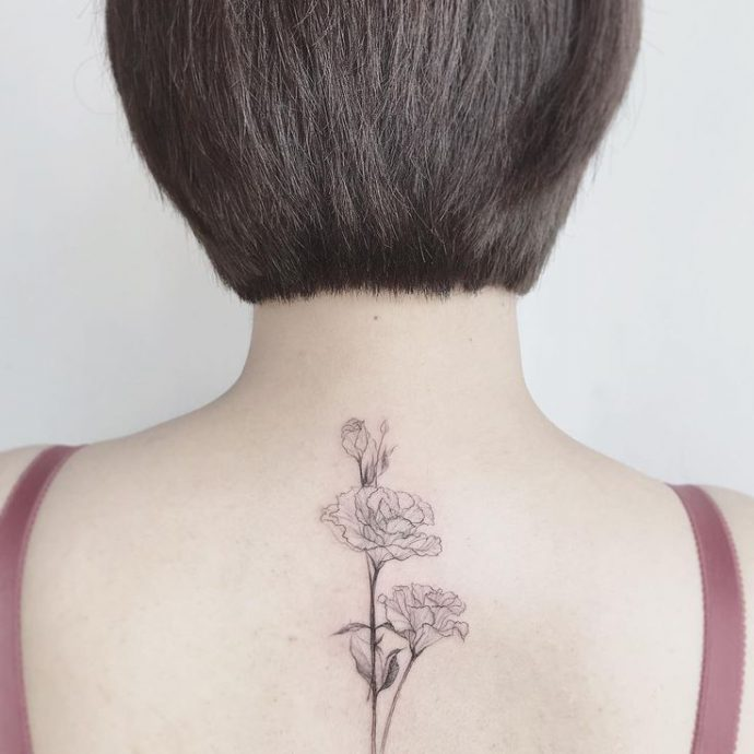 tattooist flower