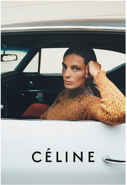 913b0919dfec Daria Werbowy channeling Didion in the Céline Resort 2015 campaign. Daria  for the Céline Fall 2012 campaign.