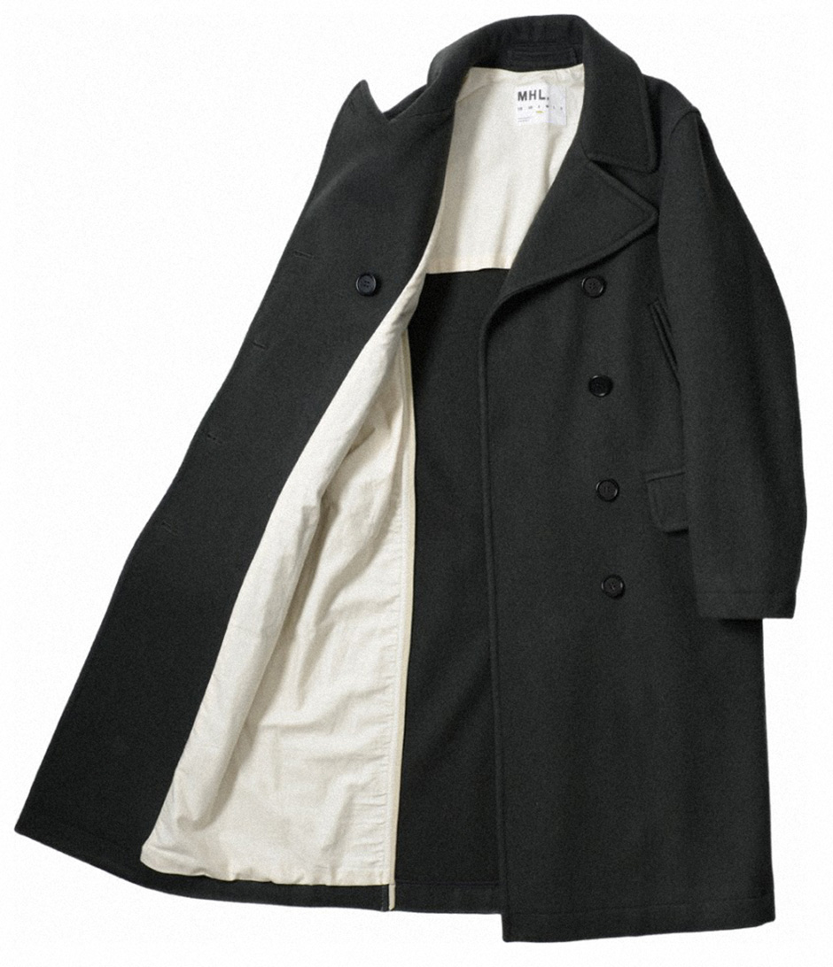 margaret-howell-mhl-women-aw14-pea-coat-wool-melton-slate-open kopiera